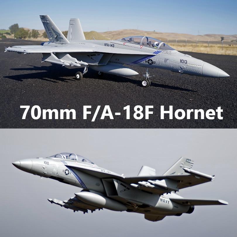 FMS RC Avion F/A-18F F18 Super Hornet 70mm Ventilateur Soufflant EDF Jet Grand modèle réduit Avion Avion PNP 6 S 6CH avec Rétracte Volets