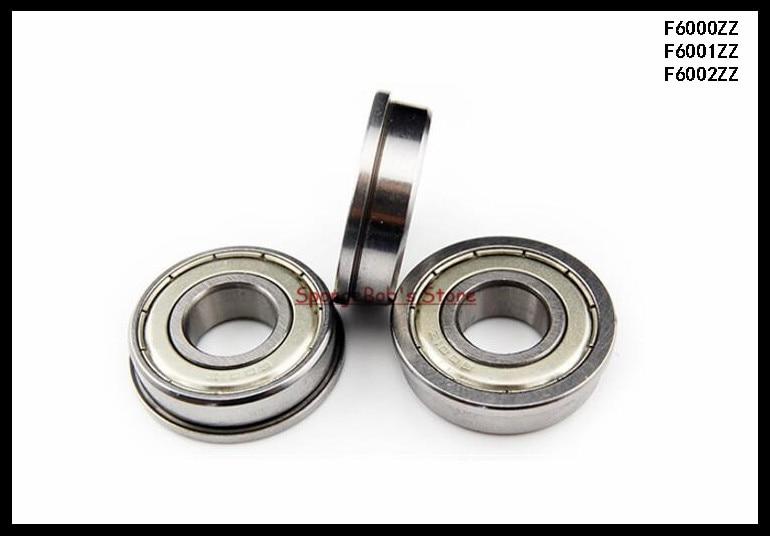 15pcs/Lot F6002ZZ F6002 ZZ 15x32x9mm Metal Shielded Flange Deep Groove Ball Bearing 10pcs 5x10x4mm metal sealed shielded deep groove ball bearing mr105zz