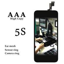 10 шт. для iPhone 5S ЖК-дисплей 4 дюймов Белый Черный сенсорный экран панель дигитайзер сборка телефона запасные части для iPhone 5 S