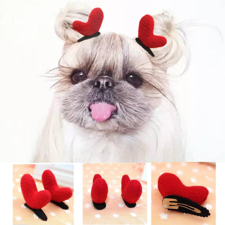 6 unids/lote Navidad Clips de Perro Accesorios Para Mascotas Pet Grooming Gatos Clips de