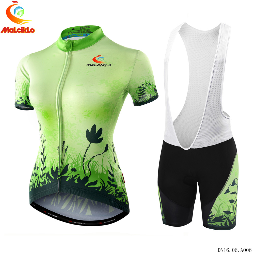 ФОТО MALCIKLO Summer Women Cycling MTB Short Sleeves Jersey Bike Bicycle Sets Shirts Padded Cycling Short Wear Uniforms