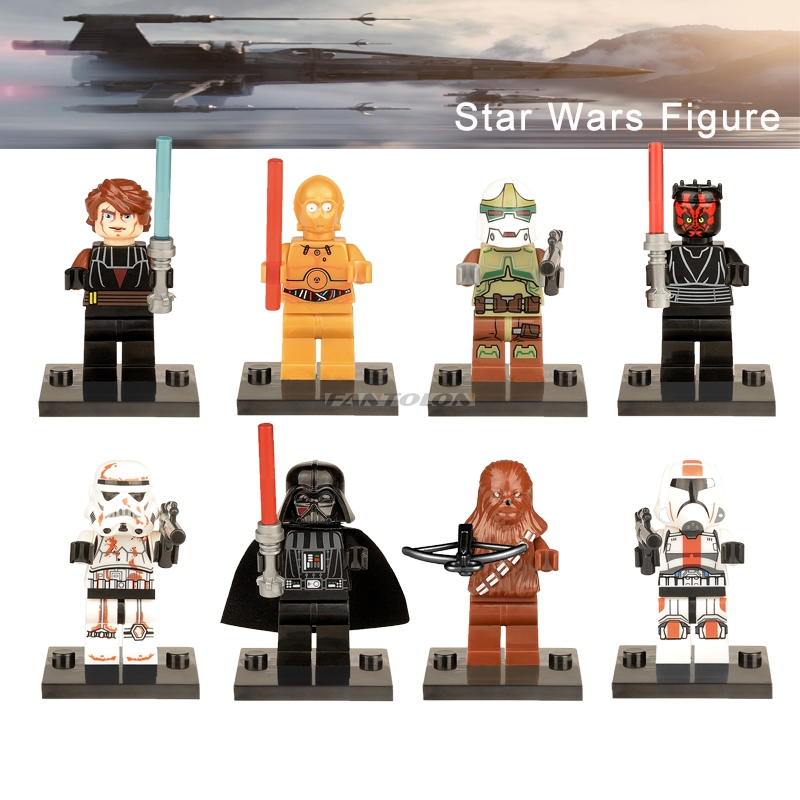 vendas-individuais-legoingly-star-wars-darth-maul-darth-vader-chewbacca-bounty-hunter-c3po-sandtrooper-building-blocks-brinquedos-font-b-starwars-b-font