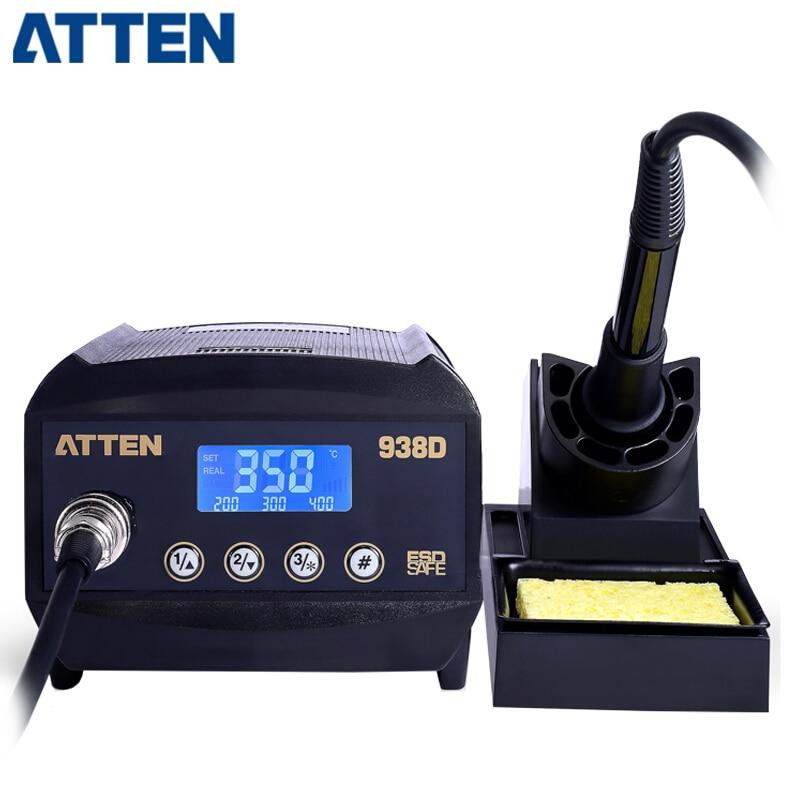 ATTEN AT938D 110V/220V 60W Lead-free anti-static Digital display Rework Soldering Station цена
