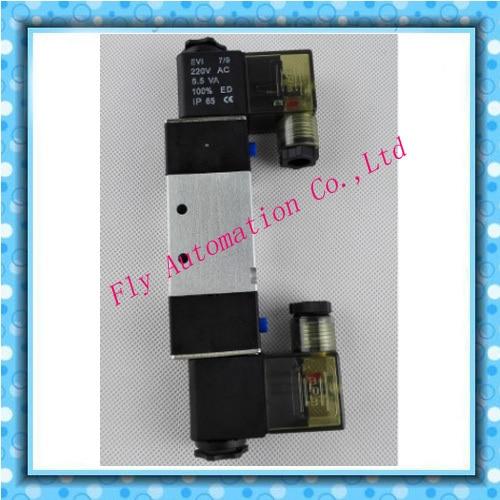 "NPT 1//8/"" Pneumatic 5//3 Way Electric Control Solenoid Valve DC12V 4V130C-06"