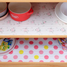 1 Roll 30*300cm Table Mat Cabinet Closets Wardrobe Drawer Mat Moisture-proof Anti Slip Printing Flower Household Kitchen Tools(China)