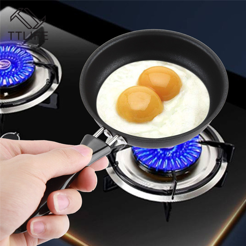 1 Pc 12 Cm Frying <font><b>Pan</b></font> Cast Iron Non-Stick Omelette Breakfast <font><b>Pan</b></font> Mini Egg Frying <font><b>Pan</b></font> Cooking Tool Sartenes Cookware image