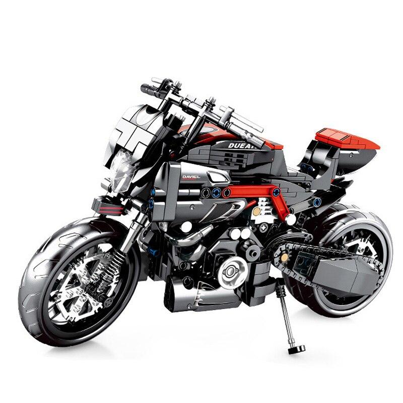 SLPF Toys For Children Motorcycle Model Kit Compatible Legoing Educational Boy Creative Diy Assembled Building Blocks Brick I59