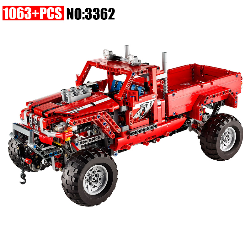 DECOOL New 3362 Customised Pick-Up Truck Truck Building Block Bricks Toy Boy Game Model Car DIY Gift Compatible with 42029 608pcs race truck car 2 in 1 transformable model building block sets decool 3360 diy toys compatible with 42041