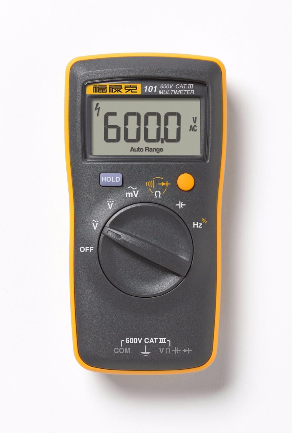 Fluke 101 Basic Palm sized Mini Pocket auto range Digital Multimeter for AC DC Voltage Resistance