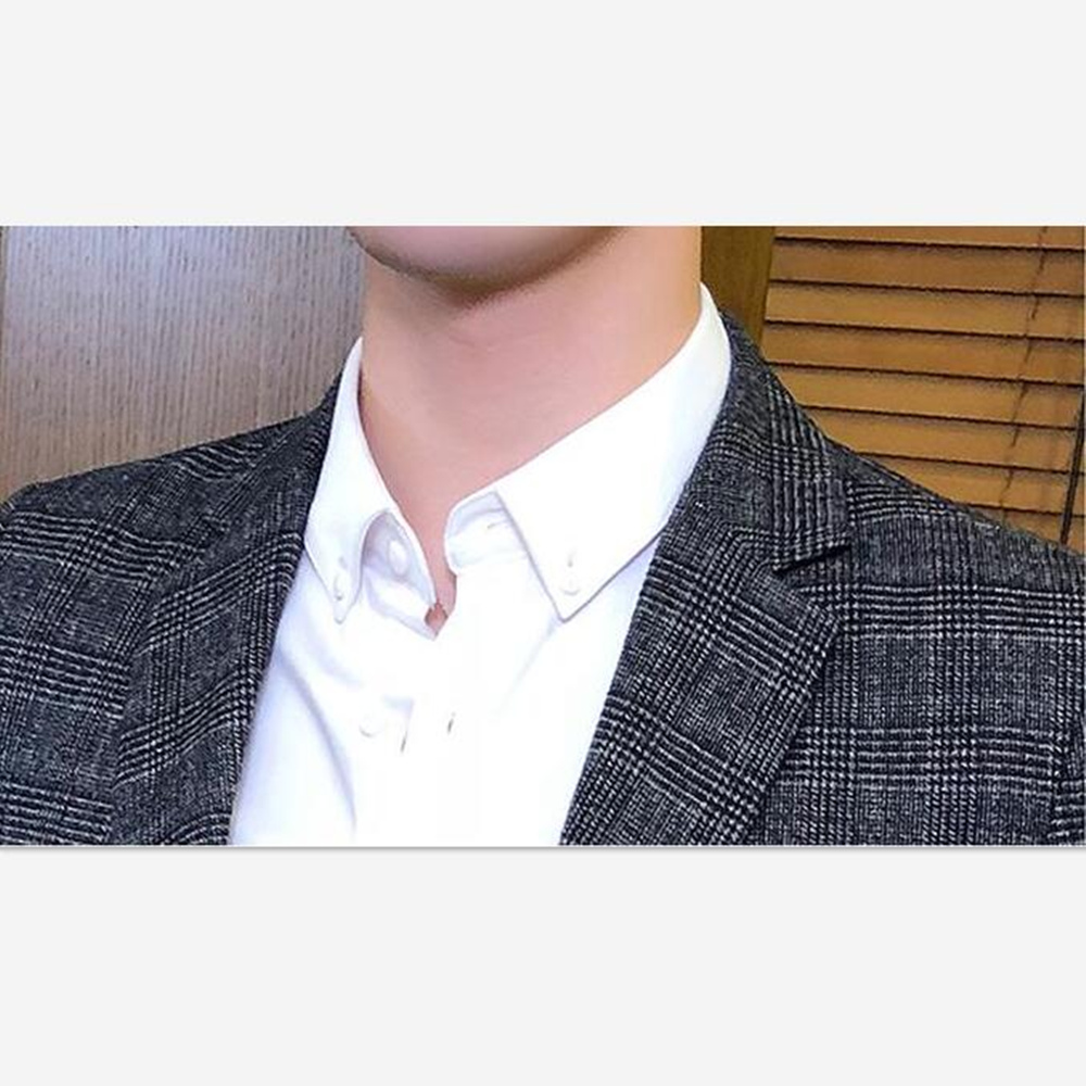 Men 39 s Plaid Suit Blazers One Button Slim Fit plaid Jacket Coat Man Plus Size M 5XL stage wedding Clothes Male Formal Wear in Blazers from Men 39 s Clothing