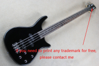 Accept Custom Any Wood Any Style Electr Electric Guitar Bass Guitarra 4 String PiceaTP Basswood DIY White Black Circle