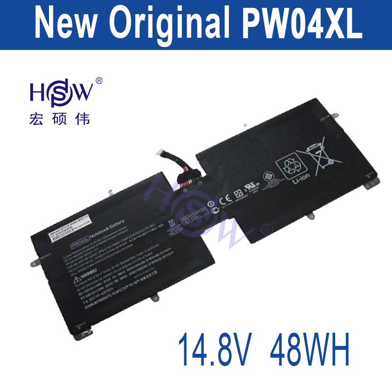 HSW New PW04XL Laptop battery forHP Spectre XT TouchSmart 15-4000eg TPN-C105 PW04048XL HSTNN-IBPW 697231-171 14.8V 48WH