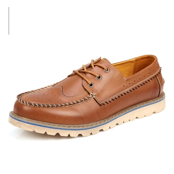 Nice Great Carved Leather Shoes Men Oxfords Shoes British Style Lace-Up Moccasins Bullock Business Casual Shoes For Man 6262