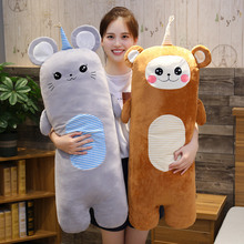 1pc 70/100cm long Rabbit Pillow Monkey Plush toy soft cushion stuffed animal Sofa Bedroom Decor Kawaii Lovely gifts for kids