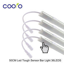 4pcs* 50CM LED Touch Sensor Bar Light Night Lights Dimmable 36 LED DC12V Drawer Cabinet Wardrobe Tube for kitchen / bedroom(China)
