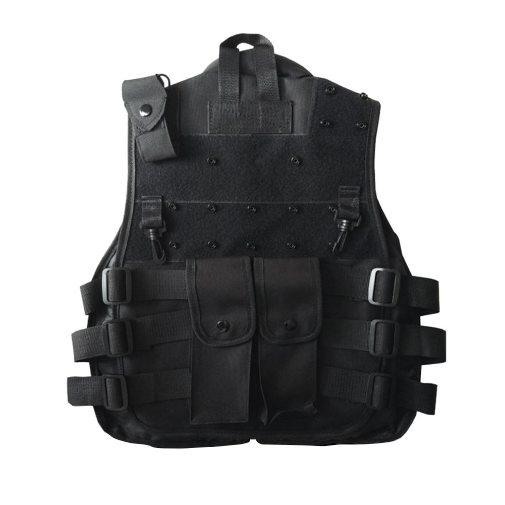 Outdoor Horse Riding Vest Security Guard Children Kids Black Tactical Vest Jacket Waistcoat Tool Holder Toy Clip Darts 2