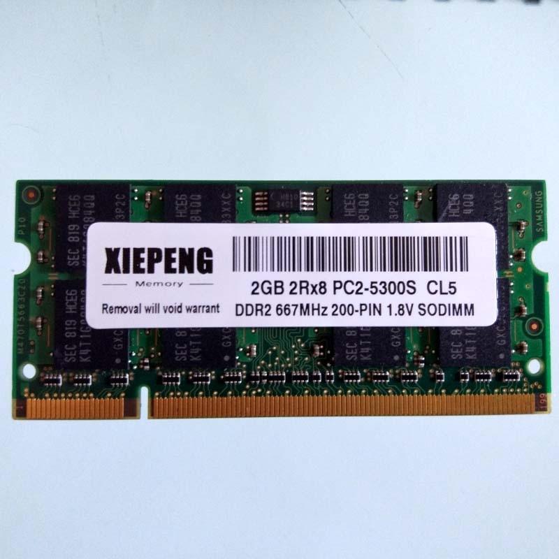 2GB Samsung PC2-5300 DDR2-667MHZ 200pin Sodimm Laptop Notebook Memory RAM CL5 NE
