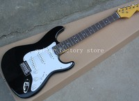 Professional custom black Eric Clapton ST signature maple fretboard 6 string Chrome Hardware Electric Guitar Guitarra