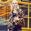 JZAYV Camouflage Short Length Ladies Casual Spring Jacket Wear Fashion Design Mrs Cool Wear Outercoat