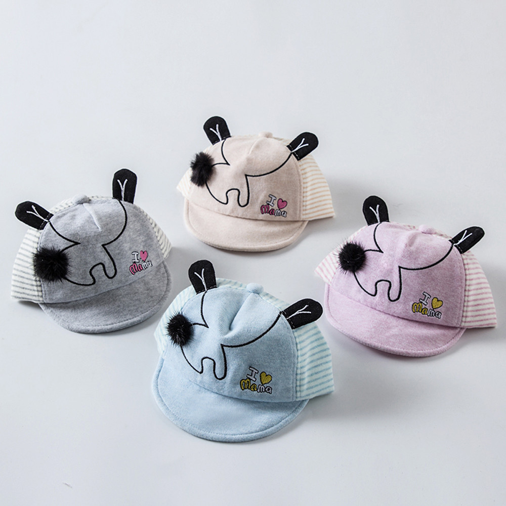 from 1-6Months colorful Newborn Toddler Kids Baby Girl Boy photography Baseball Cat Little Ear Cap Warm Hat P30 beanie st5