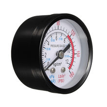 Bar Air Pressure Gauge 13mm 1/4 BSP Thread 0-180 PSI 0-12 Manometer Double Scale For Air Compressor(China)