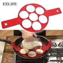 Жареный яичный блин производитель антипригарный инструмент для приготовления пищи круглое сердце блинница машина для приготовления яиц сковорода флип яйца плесень кухонные аксессуары для выпечки
