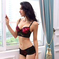Size 30 32 34 36 38 40 B C Cup The Latest Gilrs Bra Women's Push Up bra Brief Sets Lace Bras Red Lingerie Set  Free Shipping