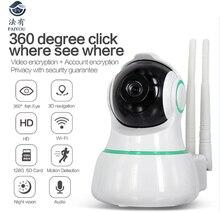 FAIYOU WIFI Mini CCTV Camera IP P2P HD Video 1MP 720P Night Vision 10m Rotation 355 Degree and Vertical 70 Degree 3D Navigation