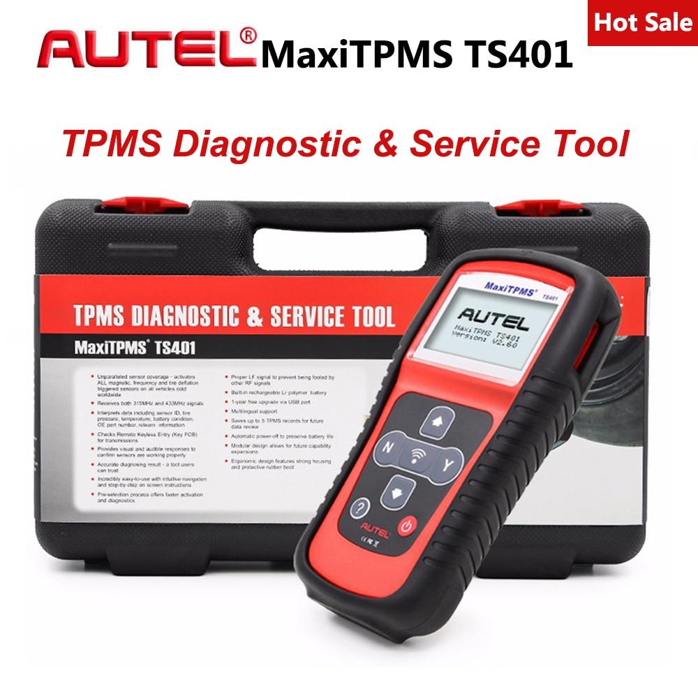 Outil de Diagnostic Autel Maxitpms TS401 TPMS recevoir des signaux de capteur 315 mhz 433 mhz testeur de pression des pneus activer l'outil de capteur de réapprentissage