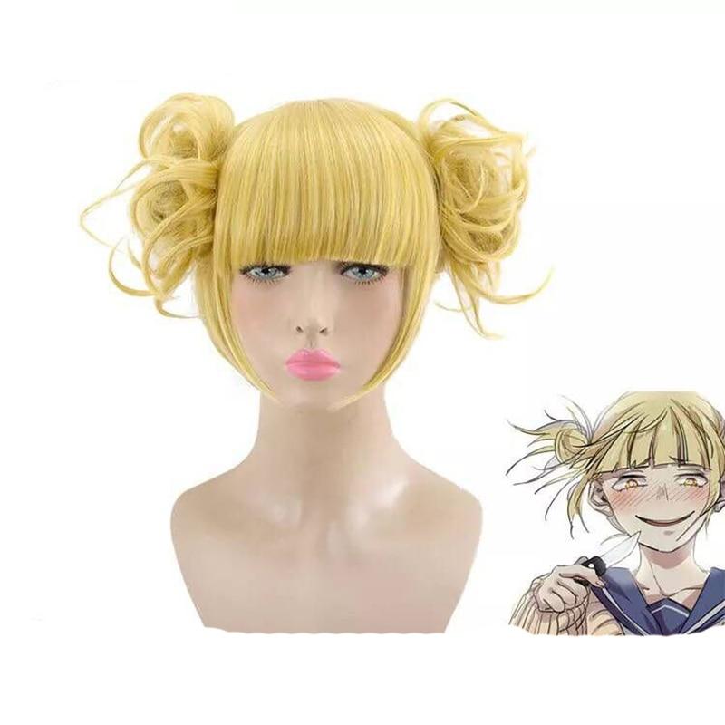 Anime My Hero Academy Himiko Toga Cosplay Wig Costume Play Wigs Halloween Ball Costumes Hair