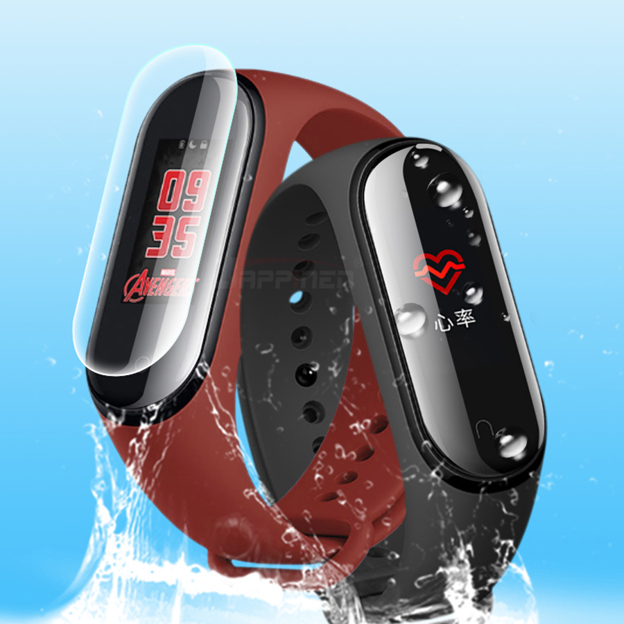 2 sztuk folia ochronna do Xiao mi mi Band 4 3 inteligentne nadgarstek bransoletka pełna ochraniacz ekranu hydrożel Film nie szkło hartowane 8