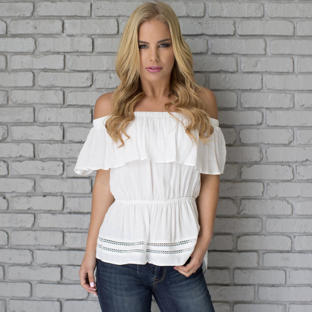 Compare Prices on White Cotton Ruffle Blouse- Online Shopping/Buy ...