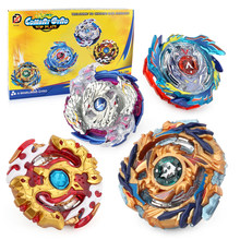 Bey blade Burst Beyblade Set 4 Gyro+2 Launcher+1 Handle+1 Plastic Stage B73 B79 B97 B100 Metal Funsion 4D Fighting Gyro Toys #E(China)