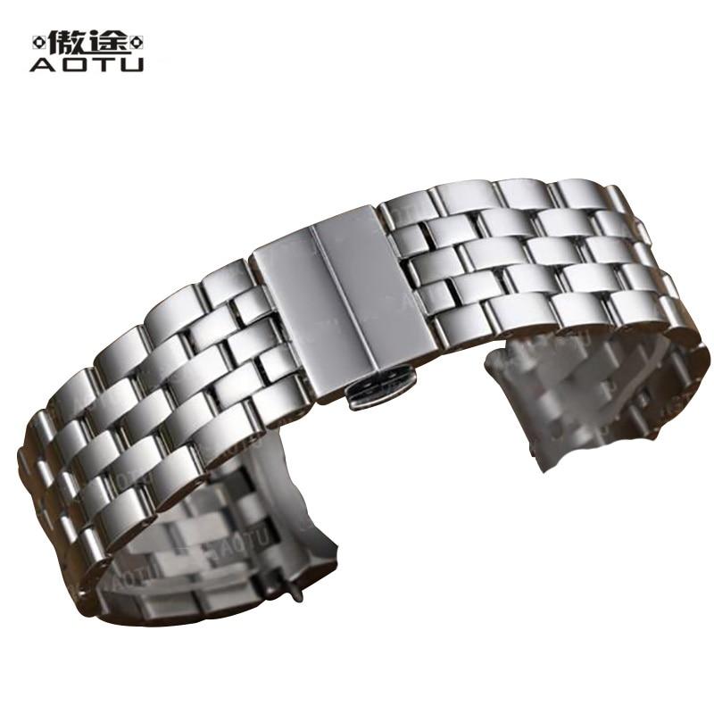 все цены на Stainless Steel Watchbands For Mido BARONCELLI m8690 8607 8605 Men Watches Strap 22mm Watch Bracelet Belt Male Watch Band Saat онлайн