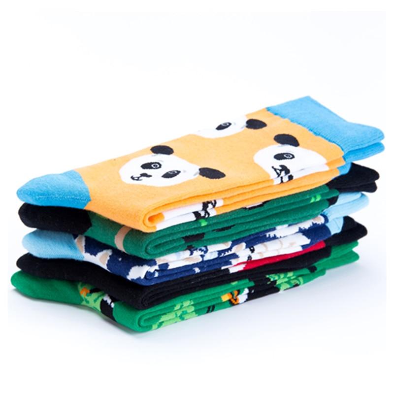 Just Crew Cool Cat Panda Bamboo Animal Premium Men Women Crazy Socks Happy Short Male Cotton Pop Crazy Female Winter Warm Socks Men's Socks