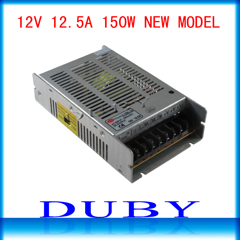 10piece/lot New Arrival 12V 12.5A 150W Switching power supply Driver For LED Light Strip Display AC100-240V Free Fedex 2015 new 12v 12 5a 150w switching power supply driver for led light strip display ac100 240v best qulity