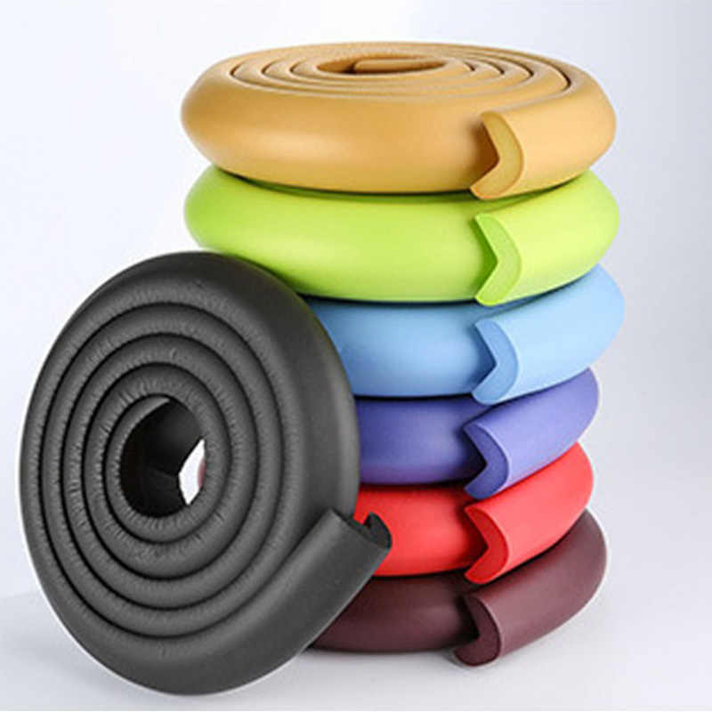 LOVYNO 1PC 2M Baby Safety Table Desk Edge Guard Strip Home Cushion Guard Strip Safe Protection Children Bar Strip Soft Thicken