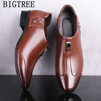 Italiano Zapatos De los holgazanes De los hombres Zapatos De Vestir para...
