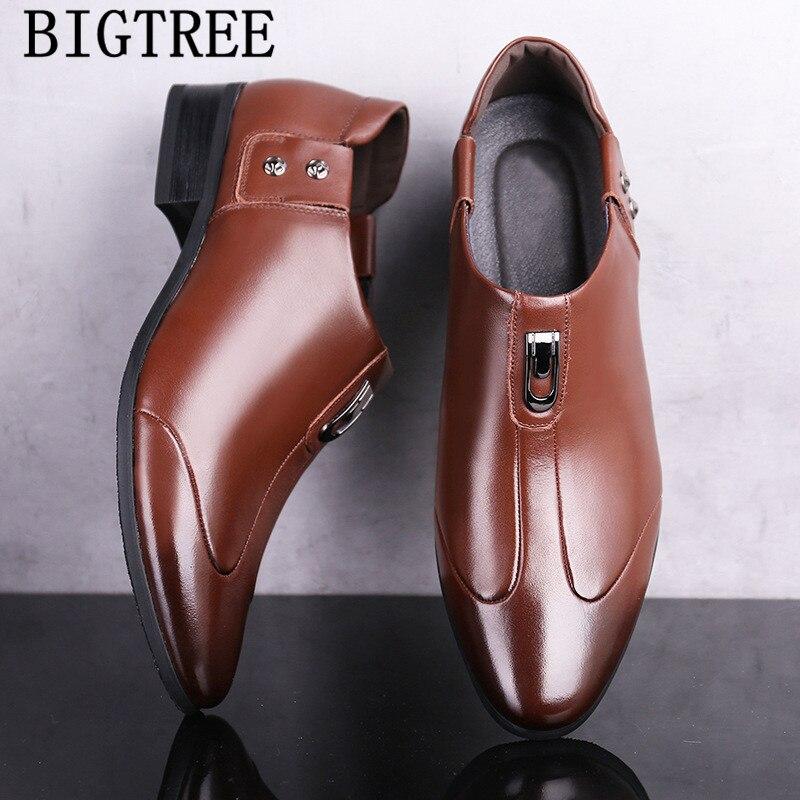 e909f130b8 Holgazanes Italiano Boda Oxfords marrón Hombres Los De Para Negocios  Formales Zapatos Hombre Negro Vestir BrWtBTqU