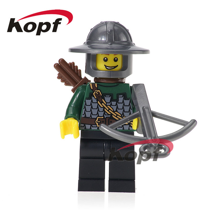 Single Sale Super Heroes Medieval Rome Dragon Knight with Bow Egypian Warrior Bricks Building Blocks Children Gift Toys XH 520