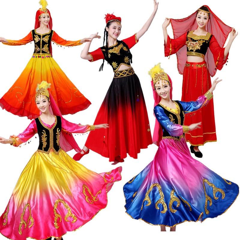 Details about  /Women Tibetan Dance Costumes Minority Costume Stage Square Dance Folk Retro 2020