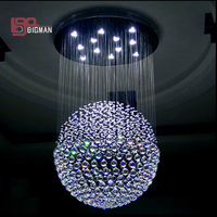 contemporary crystal chandelier LED light fixtures lustre de cristal lampe luxury foyer chandeliers 100% guaranteed