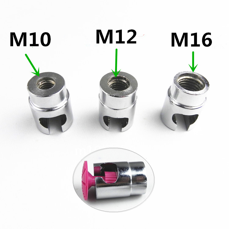 Car Aluminum Alloy Dent Repair Puller Head PDR Adapter Screw Tips For Slide Hammer And Pulling Tab M10 M12 M16 Tool