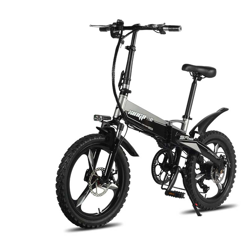 20inch electric bike 48V hidden lithium battery 250w rear wheel drive motor  Aluminum Folding Electric Bicycle 2.4 bold tires