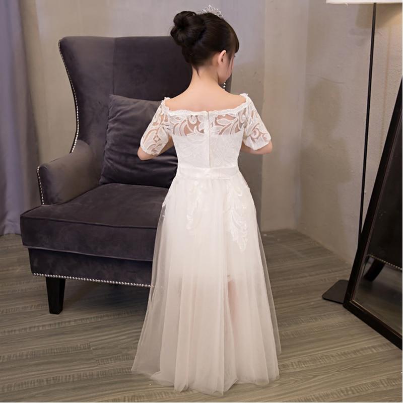 Shoulderless Girls Prom Dresses Short Sleeves Girls Dress Summer 2017 New  Princess Wedding Party Dress Trailing Detachable QX192-in Dresses from  Mother ... 4de89500c658