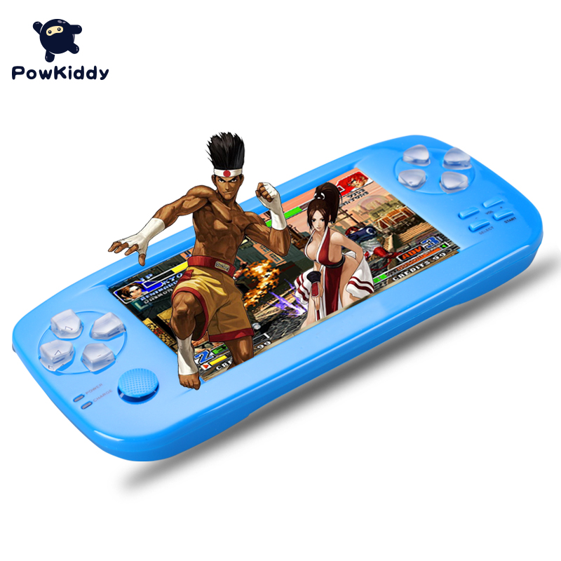 PAP K3 4.3 inch game console Handheld Game Console 32 bit Portable Video Game Built in 653 Games Support CP1/CP2/NEOGEO/GBA portable 3 inch 16 bit handheld game console black and blue