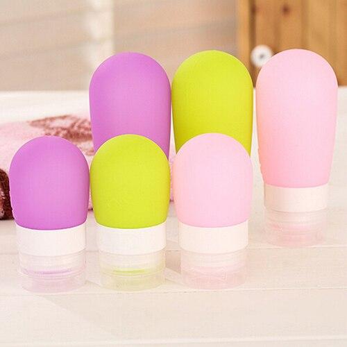 38 ml 80 ml vacío silicona viaje embalaje prensa botella para loción Shampoo baño contenedor B9HS