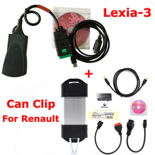 For Renault Can Clip V174  + PP2000 Lexia-3 Lexia3 with Diagbox V7.83 by DHL Shipping