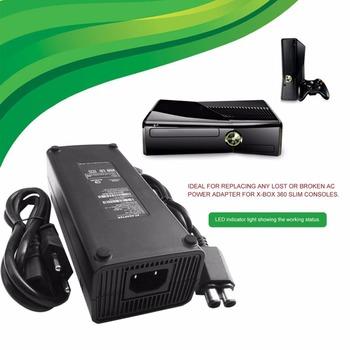 Nowy AC 100-240V Adapter ładowarka zasilająca ue podłącz kabel do XBOX 360 Slim idealny wymienna ładowarka z lampka kontrolna LED tanie i dobre opinie ONLENY NONE CN (pochodzenie) Microsoft Xbox360 AC 100-240V Adapter Power Supply EU Plug 170*75*53mm for X-BOX 360 Slim AC 100-240V 2A 47-63Hz