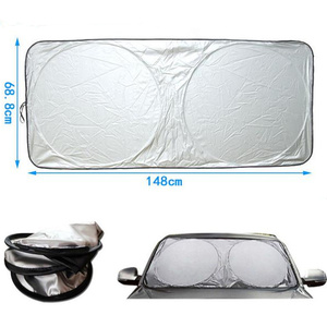 Image 4 - UV להגן על רכב שמשה קדמית כיסוי 150X70cm קדמי אחורי חלון סרט שמשה קדמית Visor כיסוי רכב שמשיה רכב סטיילינג באיכות גבוהה